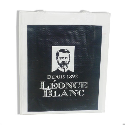 sac polypro tisse leonce blanc publicibags