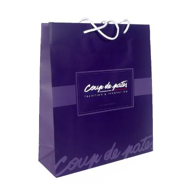 sac papier luxe publicitaire coup de pates