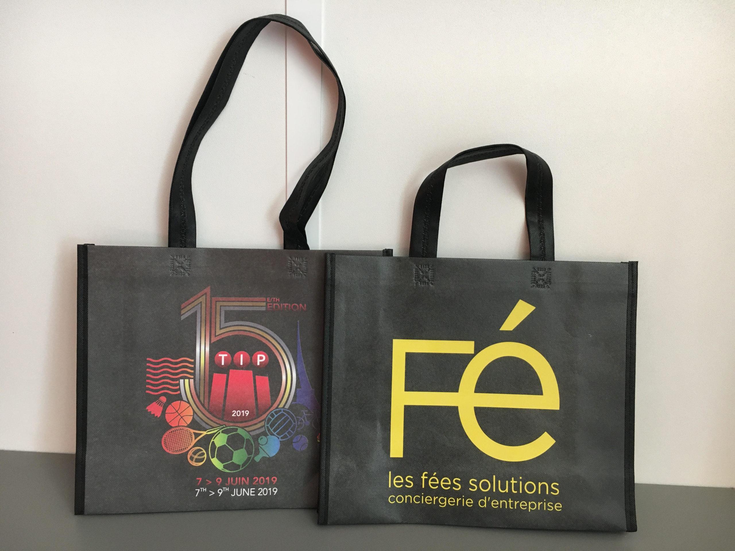 sacs soudés noir Fé Publicibags